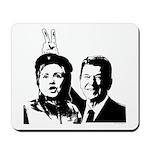 Ron gives Hillary the rabbit ea Mousepad