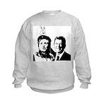 Ron gives Hillary the rabbit ea Kids Sweatshirt