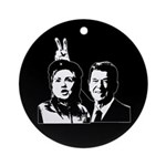 Ron gives Hillary the rabbit ea Ornament (Round)