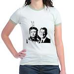 Ron gives Hillary the rabbit ea Jr. Ringer T-Shirt