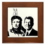 Ron gives Hillary the rabbit ea Framed Tile