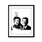 Ron gives Hillary the rabbit ea Framed Panel Print