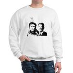 Ron gives Hillary the rabbit ea Sweatshirt