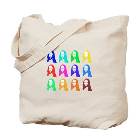 Retro Mona Lisa graphic Tote Bag