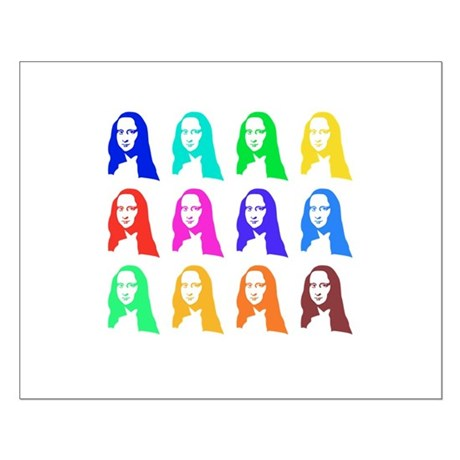 Retro Mona Lisa graphic Small Poster