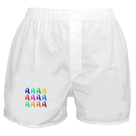 Retro Mona Lisa graphic Boxer Shorts