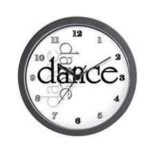 Dance Shadows Wall Clock