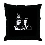 Ron gives Hillary the rabbit  Throw Pillow