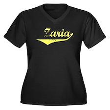 Zaria Vintage (Gold) Women's Plus Size V-Neck Dark