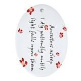 Genealogy Haiku Oval Ornament