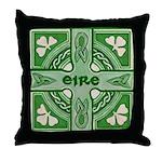 Symbols of Ireland Throw Pillow