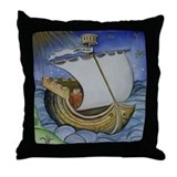 Brendan the Navigator Throw Pillow