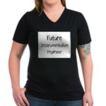 Future Instrumentation Engineer Women's V-Neck Dar
