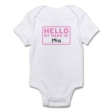 Hello My Name Is: Mia - Infant Bodysuit