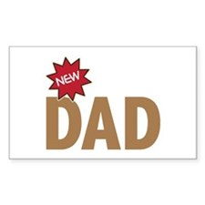 New Dad First Time Family Rectangle Decal