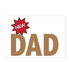 New Dad First Time Family Postcards (Package of 8)