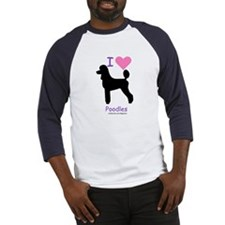 """I love Poodles"" Baseball Jersey"
