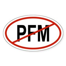 PFM Oval Decal