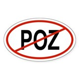 POZ Oval Decal