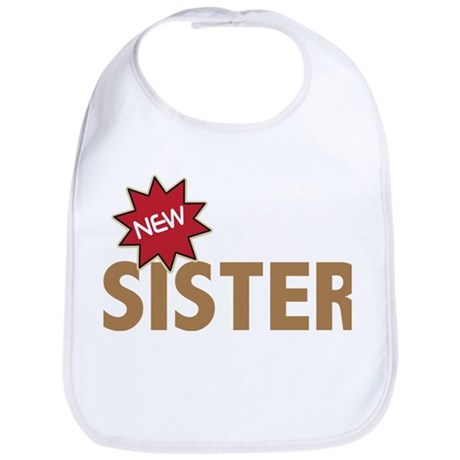 New Sister Sis Big Little Family Bib