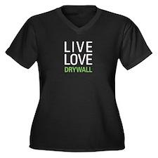 Live Love Dr Women's Plus Size V-Neck Dark T-Shirt