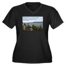 Peninsula State Park Women's Plus Size V-Neck Dark