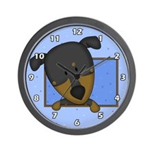 Cartoon Doberman Pinscher Clock