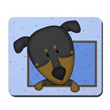 Cartoon Doberman Pinscher Mousepad