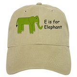 E is for Elephant Baseball Cap