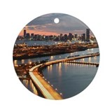Miami Skyline Ornament (Round)