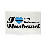 I love my Botswanan Husband Rectangle Magnet