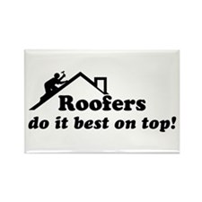 Roofer Rectangle Magnet
