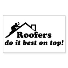 Roofer Rectangle Decal