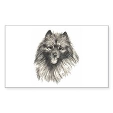 Keeshond Rectangle Decal
