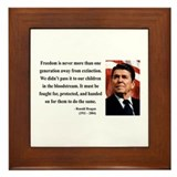 Ronald Reagan 9 Framed Tile