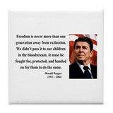 Ronald Reagan 9 Tile Coaster