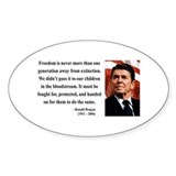 Ronald Reagan 9 Oval Decal