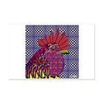 Psycho Rooster Mini Poster Print