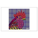 Psycho Rooster Large Poster