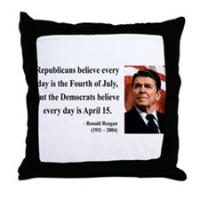 Ronald Reagan 10 Throw Pillow