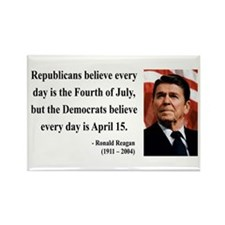 Ronald Reagan 10 Rectangle Magnet