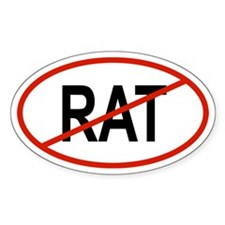 RAT Oval Bumper Stickers