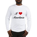 I Love Mauritania Long Sleeve T-Shirt