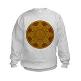 Beige Crop Circle Sweatshirt