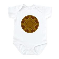 Beige Crop Circle Infant Bodysuit