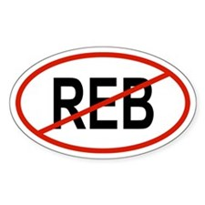 REB Oval Decal