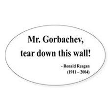 Ronald Reagan 17 Oval Decal