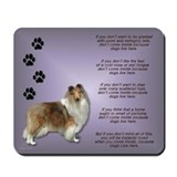 Collie Dogs Live Here Mousepad