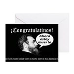 Castro is Dead! Greeting cards (Pk of 10)