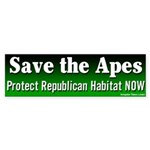 Save the Apes Bumper Sticker